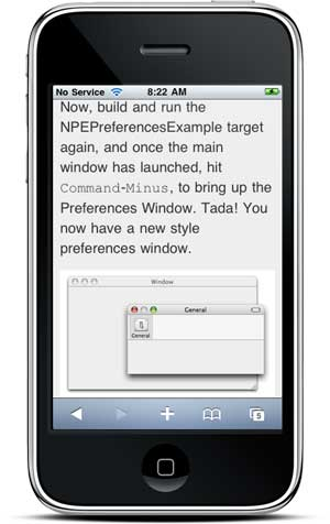 Image of Clippable Mobile on the iPhone