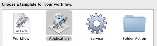 Automator Application Workflow