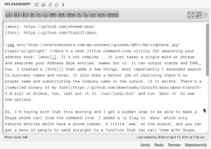 Markdown QuickTags Screenshot