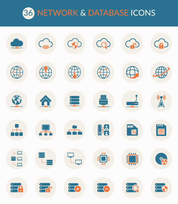 a friday freebie  network and database icon set