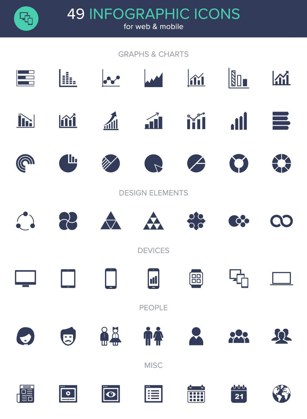 friday freebie  infographic icon set